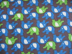 Japanese elephant fabric for fabric baskets