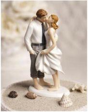 Beach wedding theme cake topper