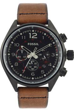 Capri Jewelers Arizona  ~  www.caprijewelersaz.com Fossil Flight Leather Watch #CH2695 Brown