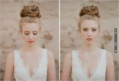 chignon bun | CHECK OUT MORE IDEAS AT WEDDINGPINS.NET | #weddinghair