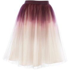 Tressi Full Skirt (435 PEN) ❤ liked on Polyvore featuring skirts, bottoms, saias, faldas, women, full skirt, pink skirt and full pink skirt