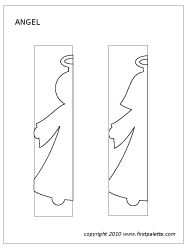 Angel paper doll chain template
