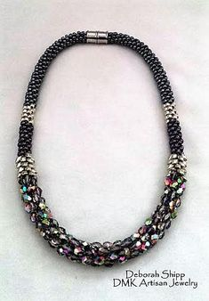 This listing is for the PDF Instructions only to make the Kumihimo Color Block Necklace by Deborah Shipp, DMK Artisan Jewelry Old Jewelry, Beaded Jewelry, Jewelry Necklaces, Handmade Jewelry, Beaded Necklace, Jewelry Making, Craft Jewelry, Diamond Jewelry, Jewellery