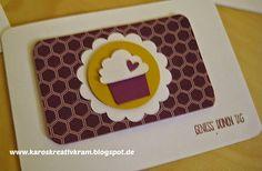 Geburtstagskarte * DP im Block Mondschein * Törtchen Stanze Stampin' Up!