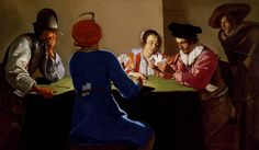 1634 Jacob van Oost the Elder - An Interior With Soldiers Cheating At Cards