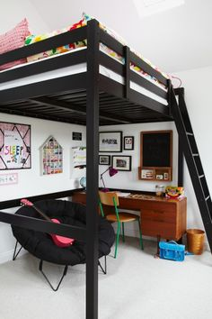 Get inspiration for your kids room with Petras' loft bed on MADE Unboxed…