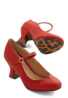 Eyeful of Elegance Heel in Red, #ModCloth