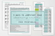 Need a redo in your cleaning routine? These are the perfect place to start and they are FREE! 3 Ways to Jumpstart Your Cleaning Routine for 2017