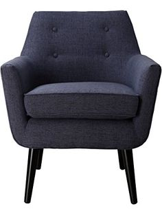 TOV Furniture Clyde Linen Chair, Navy ❤ TOV Furniture