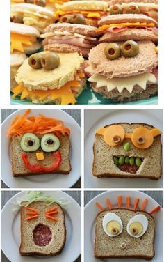 Buenas ideas para convertir un pedazo de #pan en algo #divertido. A tus #niños les fascinará!!