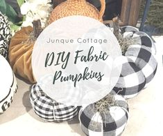 Fabric Pumpkins Tutorial How To A quick and easy Fabric Pumpkin Tutorial How to. With just a few items you can make these inexpensive fabric pumpkins great for Fall! Pumpkin Crafts, Fall Crafts, Holiday Crafts, Holiday Ideas, Holiday Decor, Fabric Pumpkins, Fall Pumpkins, Fall Halloween, Halloween Crafts
