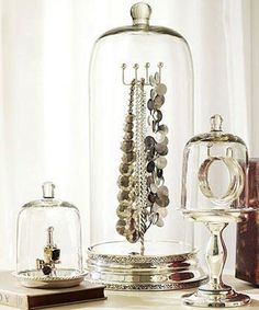 glass dome jewelry organization: Lucky Magazine