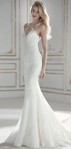 La Sposa 2018 low waist mermaid wedding dress