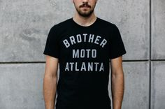 """brothermoto: """"Represent with the hometown tee! Available at brothermoto.com #Atlanta #ATL #supportyourlocalwrencher """""""