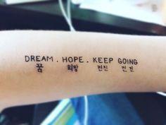 What Bts Inspired Tattoo Should I Kpop Tattoos, Army Tattoos, Korean Tattoos, Lyric Tattoos, Tattoo Quotes, Tatoos, Mini Tattoos, Little Tattoos, Body Art Tattoos