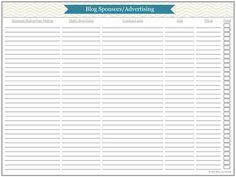 Blog Planner Printables Part 4