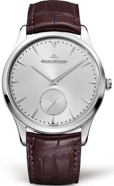 @jlcwatches Watch Master Grande Ultra Thin #add-content #bezel-fixed #bracelet-strap-leather #brand-jaeger-lecoultre #case-depth-8-6mm #case-material-steel #case-width-40mm #delivery-timescale-1-2-weeks #dial-colour-silver #gender-mens #luxury #movement-a