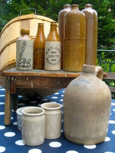Stoneware Bottles & Crocks