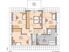 Kern-Haus Familienhaus Signum Plus Grundriss Dachgeschoss