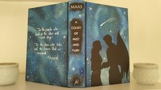 Soo I decided to deface a court of mist and fury aka. ACOMAF by  Sarah J. Maas. And I absolutly Loove the new cover   #ACOTAR #ACOMAF #ACOWAR #sarahjmaas @thebooklings #defacingcovers #paintingbooks #defacing #feysand #rhysand