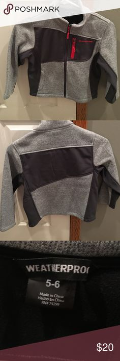 NWOT Little Boys Weatherproof Jacket Little Boys Weatherproof Jacket- new without tags, gray /dark gray with red accents, perfect fall or spring jacket, size 5/6 Weatherproof Jackets & Coats