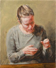 """poster for Michaël Borremans """"Girl with Hands"""""""