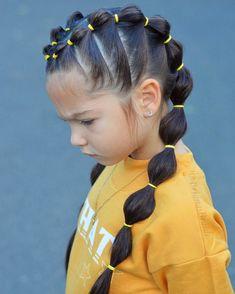 Cute Little Girl Hairstyles, Baby Girl Hairstyles, Fast Hairstyles, Kids Braided Hairstyles, Box Braids Hairstyles, Straight Hairstyles, Stylish Hairstyles, Hairstyle Ideas, Simple Hairstyles