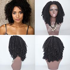 synthetic hair wig lace front hair wig