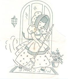 All Vintage: Sunbonnet Sue patterns, Chicken Scratch embroidery patterns, Crochet & Knitting patterns, Embroidery patterns, Quilt patterns Vintage Cookbooks & Recipes Hand Embroidery Patterns, Vintage Embroidery, Embroidery Applique, Cross Stitch Embroidery, Machine Embroidery, Embroidery Designs, Quilting Designs, Chicken Scratch Embroidery, Learning To Embroider