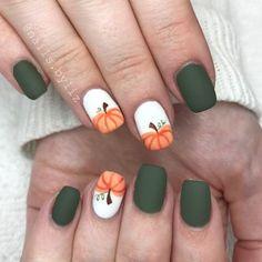 "293 Likes, 5 Comments - Liz Henson (@nails.byliz) on Instagram: ""Fall pumpkins . . . . #nails #gelnails #nailstagram #naturalnails #fall #fallnails #halloween…"""