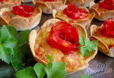 Párty tortillové košíčky   NejRecept.cz Chorizo, Bruschetta, Bagel, Tacos, Mexican, Bread, Ethnic Recipes, Food, Brot