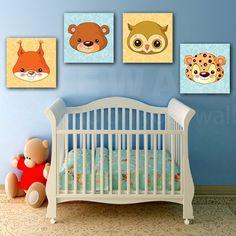 Παιδικοί πίνακες σε καμβά baby animals (σετ 4 πίνακες) Baby Animals, Cribs, Toddler Bed, Furniture, Home Decor, Cots, Child Bed, Decoration Home, Baby Pets