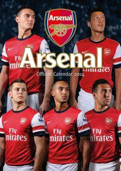 Arsenal 2014 Soccer Wall Calendar