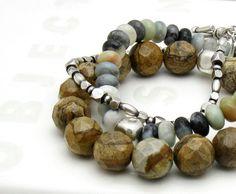 Jasper Sterling Silver Bracelet  Canyon  by cooljewelrydesign, $45.00