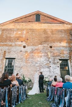 Weddings ceremony at the Georgia State Railroad Museum. Photographed by Rachel Browne. From our Fall/Winter '13 Weddings issue.