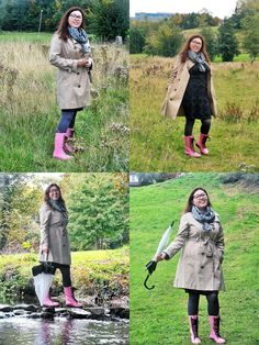 Kalosze Dr Martens i trencz/ Dr Martens Wellingtons and trench coat. Dr. Martens, Trench, Military Jacket, Michael Kors, Coat, Jackets, Fashion, Down Jackets, Moda