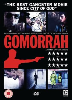 GOMORRAH - Based on book by Roberto Saviano - Directed by Matteo Garrone - DVD cover art.