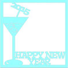 Happy New Year - Laser Die Cut Scrapbook Overlay