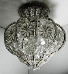 Antique Chandelier, Antique Lamps, Antique Lighting, Chandelier Lighting, Crystal Chandeliers, Baccarat Chandelier, Bubble Chandelier, Chandelier Ideas, Art Deco Lighting