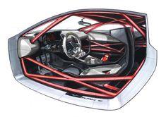 2010 Audi quattro Concept - My favorite Interior Sketch Car Interior Sketch, Car Interior Design, Car Design Sketch, Automotive Design, Bike Sketch, Car Sketch, Audi Quattro, Industrial Design Sketch, Bike Design