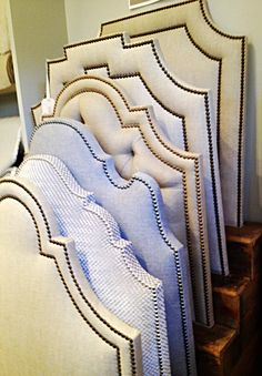 Custom made headboards, Boxwood Interiors, Houston, Texas