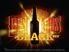 DESPERADOS « BLACK » - Serviceplan Group Packaging, Digital Photography, Photoshop, Neon Signs, Creative, Artists, Alcohol, Event Posters, Rocket Launch