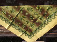 SALE 10 % off Beautiful Soviet Floral Shawl от RussianshawlMayya