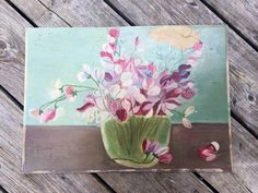 A personal favorite from my Etsy shop https://www.etsy.com/ca/listing/246609199/original-floral-painting-vintage