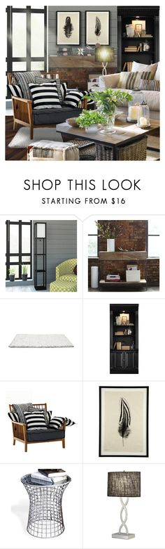 """Modern Homestead"" by annmaira ❤ liked on Polyvore featuring interior, interiors, interior design, home, home decor, interior decorating, West Elm, Hooker Furniture, Jayson Home and Adesso"