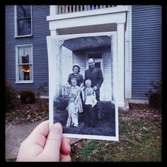 Fun website!  Dear Photograph ~ take a picture of a picture, from the past, in the present.