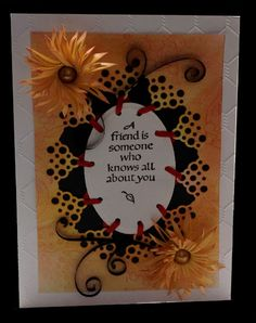 """Misc Challenges Cards """"MC May/13 - Quill Double fringe - A Friend Happy Birthday card"""""""