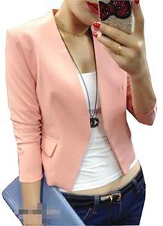 Lovaru Women's Fashion Korea Candy Color Solid Slim Suit Size S:Bust 88 Waist 68 Shoulder Length Sleeve 58 Size M:Bust 92 Waist 72 Shoulder 38 Length