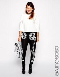 ASOS CURVE Exclusive Legging with Bones Print