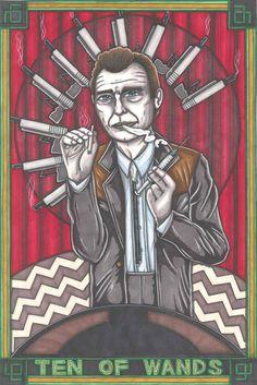 Twin Peaks Tarot Jean Renault postcard PRINT by maiafire on Etsy, £1.89